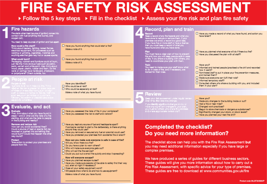 Fire Risk Assessment Warrington